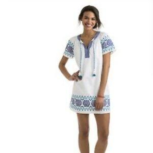 Vineyard Vines Popover Medallion Tunic Mini Dress